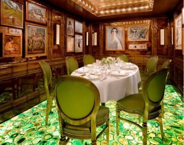 The group dining room is available for special celebrations at Scott's in Mayfair